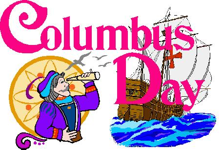 Columbus Day- Day Off